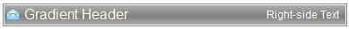 Gradient Header Inbox